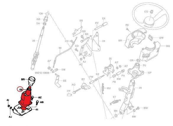 Onderdeel Sensor Stuurhuis     Fbmf16/20/25/30